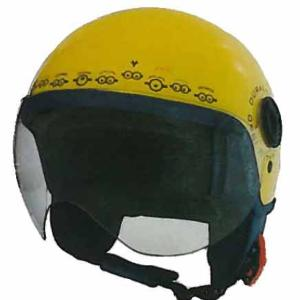 Casque Moto Jet Adulte Minions Face Yellow