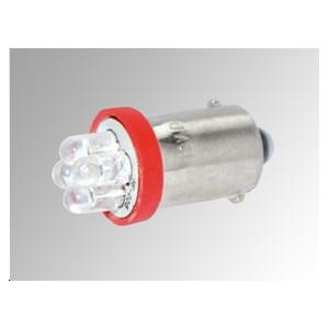 Ampoules 4 LEDs BA15S rouges